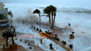 Winds of up 160mph with wall high waves - Photo YouTube