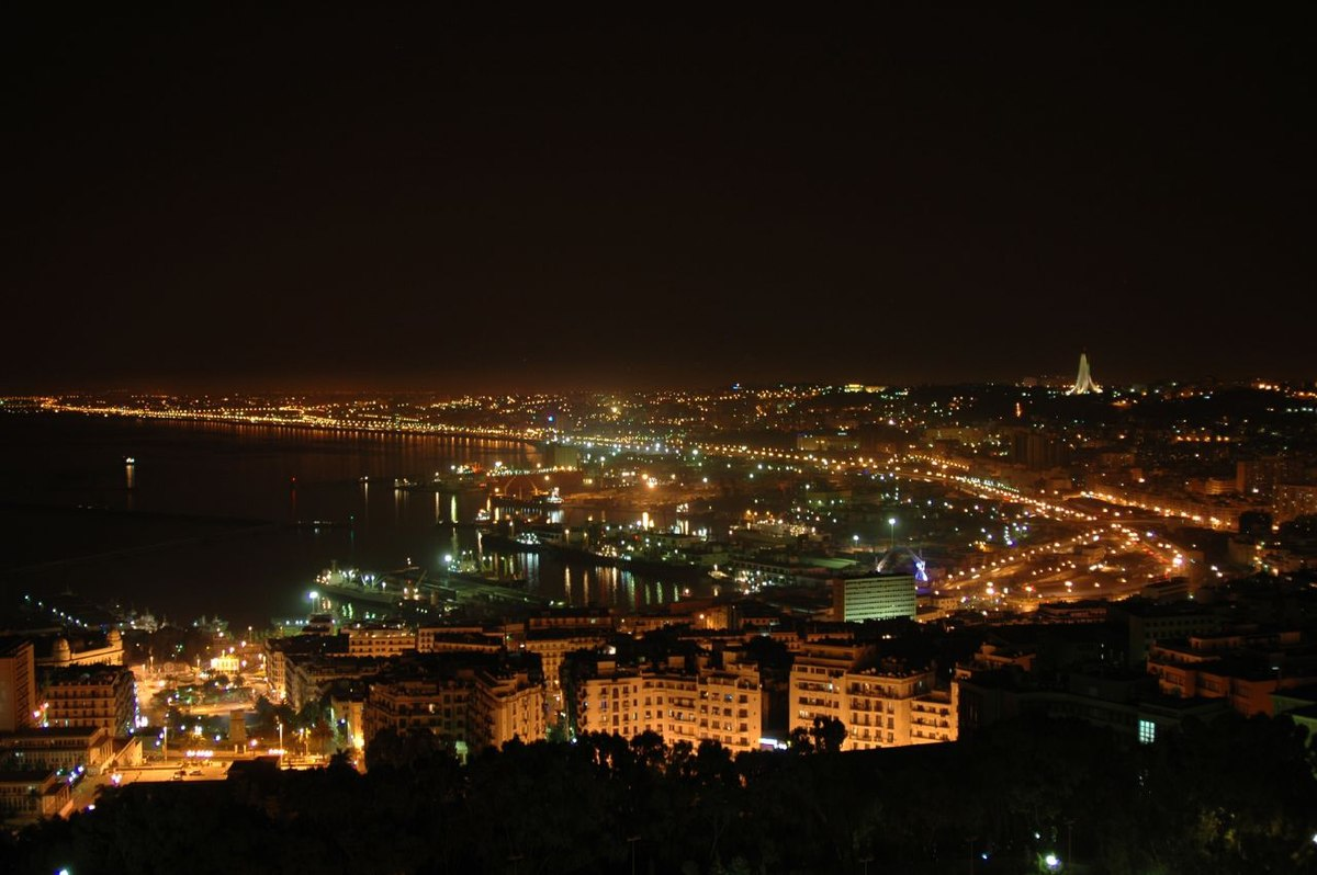 A View of Algiers by Night - Posted on Wikipedia