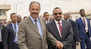 Afwerki (left) and Abiy Ahmed - Photo IDM-IndepthNews
