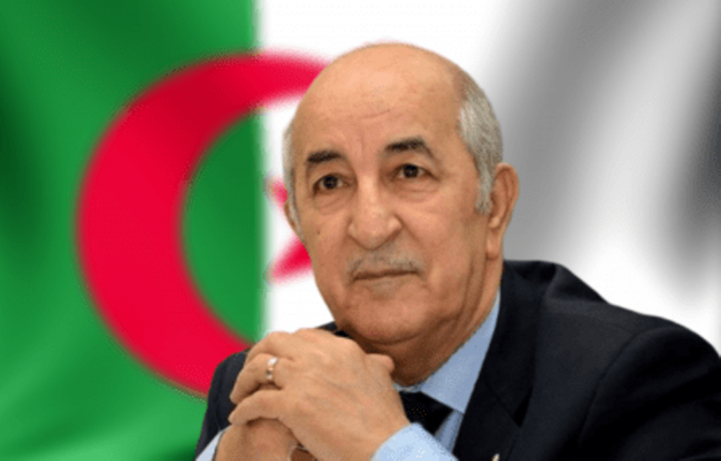 Algerian President Tebboune - Photo Vanguard News