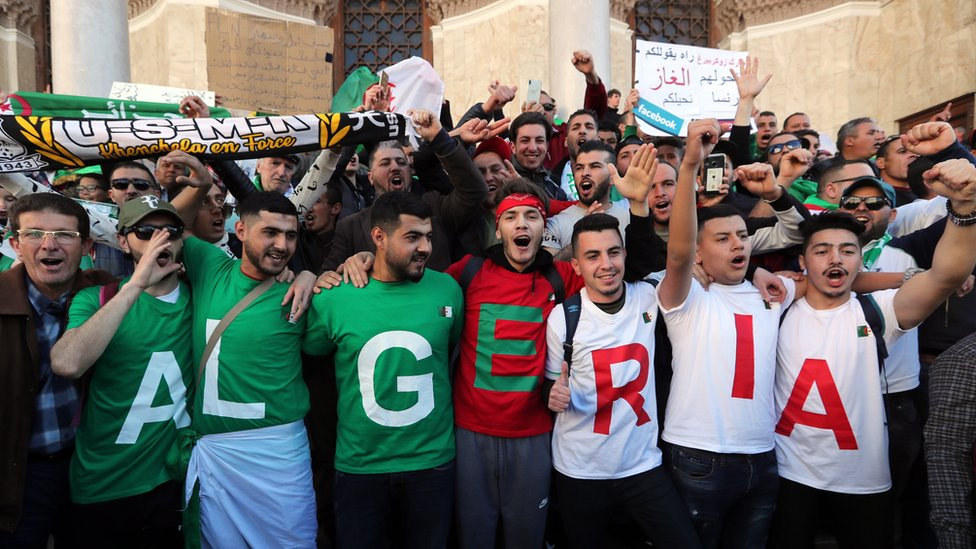 Algerians During the 2019 Protests - Photo BBC