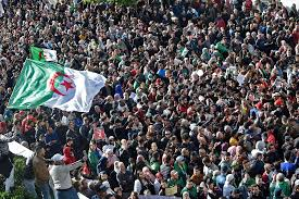 Algerians in Street Protests - Photo The East African