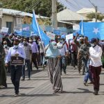 An Opposition Demonstration in Mogadishu - Photo Laredo Morning Times