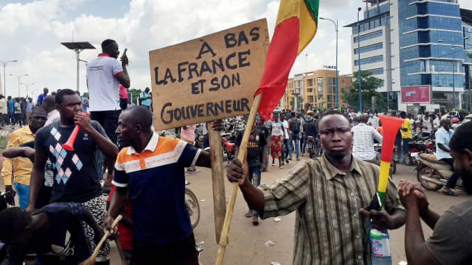 Anti French Protests in Mali - Photo CNBC