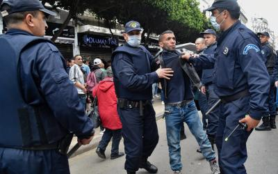 Arrest of an Hirak Member - Photo The Middle East Eye