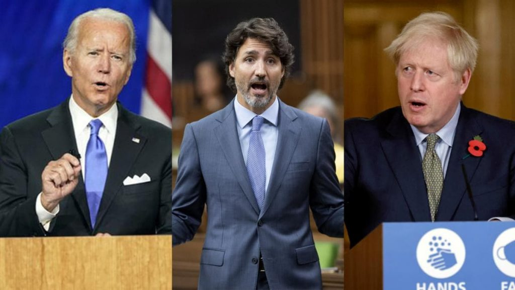Biden, Trudeau and Johnson - Photo Montage India Today