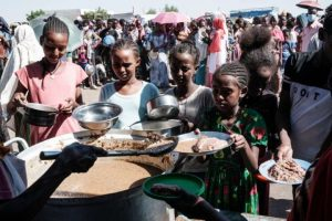 Catholic Charities Deliver Food to Tigrayan Refugees - Photo UCA News