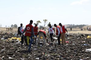 Crash Site of the Ethiopian Airlines Boeing - Photo Arabian Business