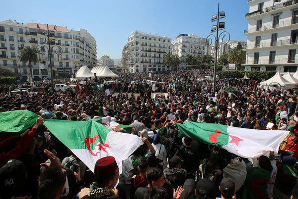 Algerian Democracy Hits Troubled Waters - Photo The New York Times