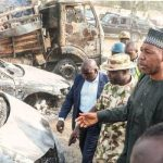 Governor Visits Areas Hit by Rocket Propelled Grenades - Photo TVC News