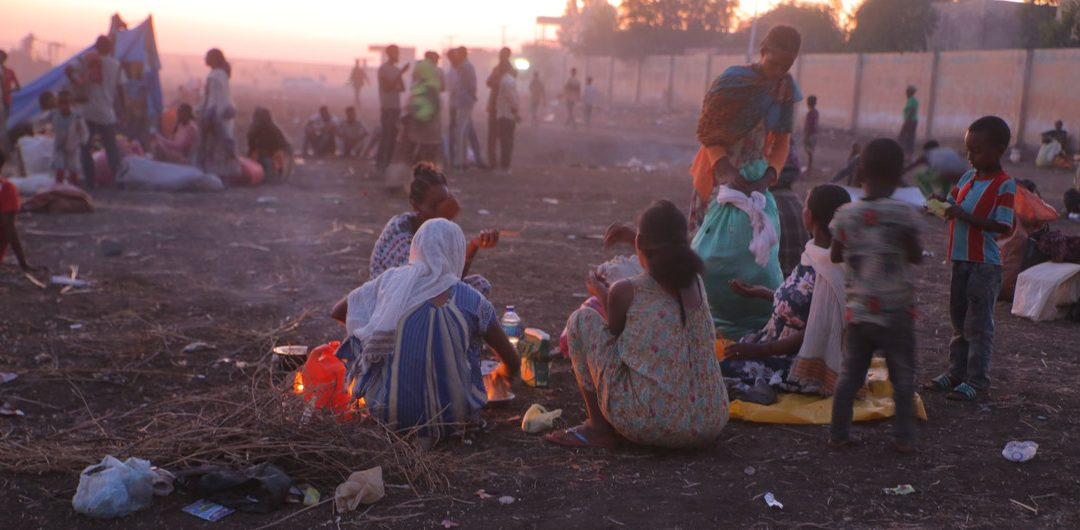 IDPs from Tigray Camp Under the Moon - Photo UN News