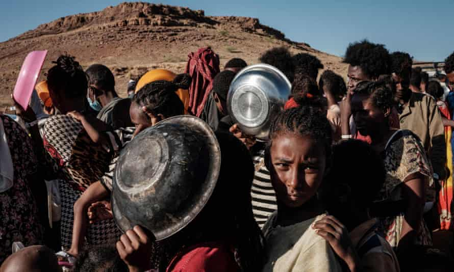 Internally Displaced in Tigray - Photo The Guardian