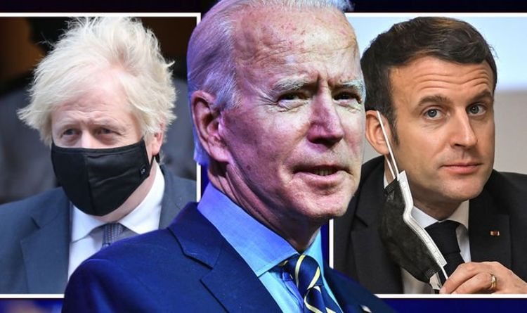 Johnson, Biden and Macron - Photo Daily Express