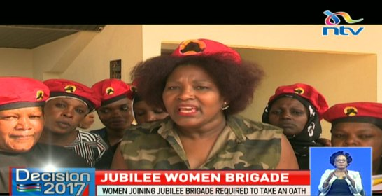 Jubilee Women in Military Gear in 2017 - Source Twitter