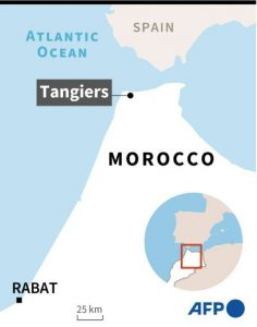 Locating Tangiers - Source AFP