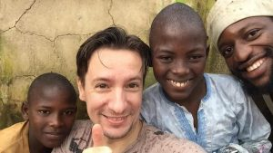 Luca Attanasio with DR Congolese Kids - Photo The Times