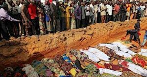 Mass Grave for 21 Victims - Photo The Nigerian Voice