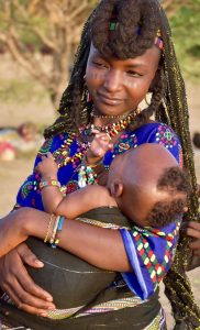 Mother and Child at the Festival of the Wodaabe in Chad - Festivals Abroad
