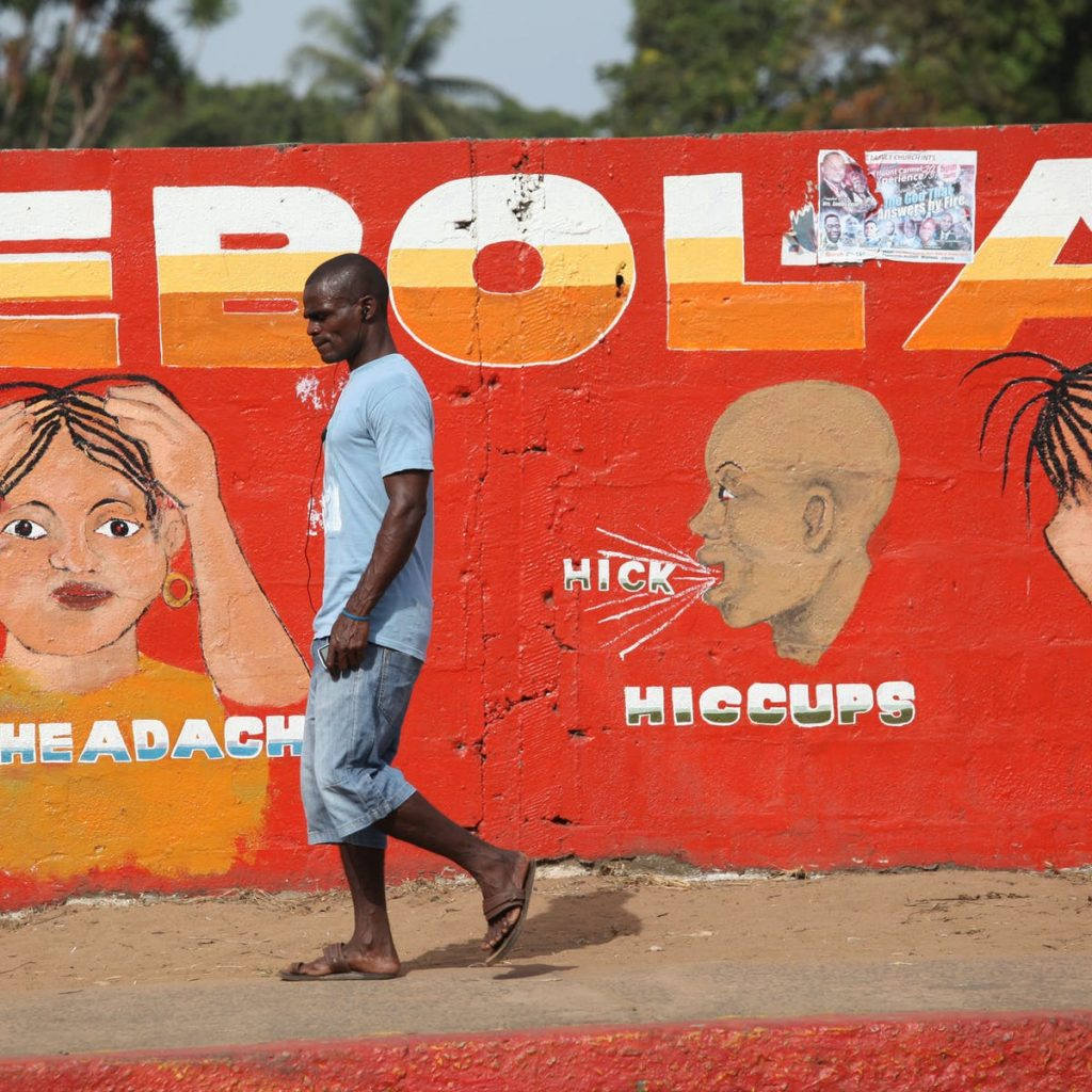 Mural on Ebola - Photo The Conversation