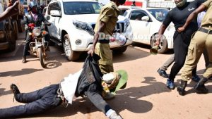 Museveni's Effigy Being Dragged Away - Photo News Pulse Online