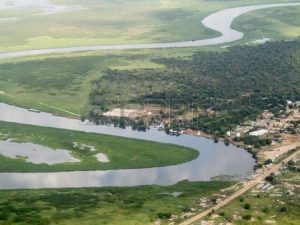 Nile Rivr Meanders Past a South Sudanese Town - Photo Pinterest