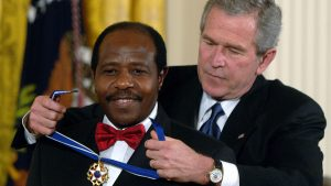 Paul Rusesabagina Celebrated by Former US President George Bush - Photo The Times