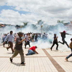 Police Fire Tear Gas to Disperse Crowds in the Streets in Antananarivo - France24