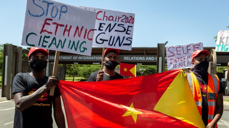 Protest Against Ethnic Cleansing in Tigray - Photo EURACTIV.com