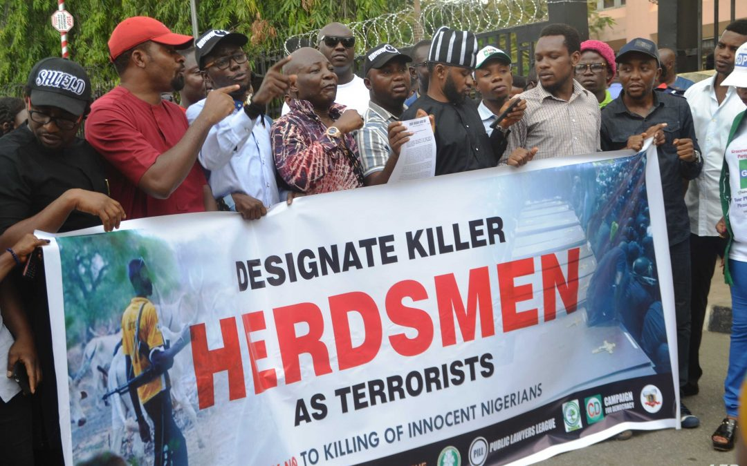 Civil Rights Groups Protest Killings by Fulani Herdsmen - Photo AFP/Sringer
