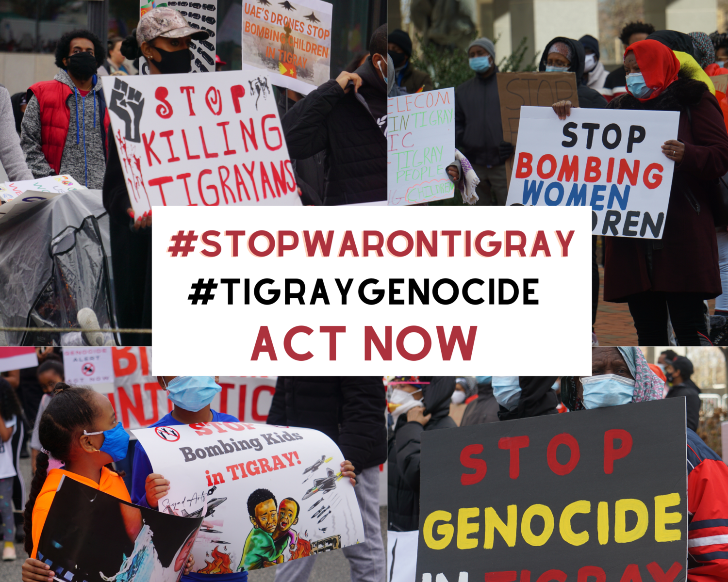 Protesting Genocidal Violenace in Tigray - Photo Stand With Tigray