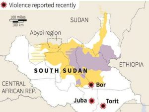 Recent Violent Clashes in South Sudan - Source Business Insider