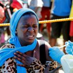 Rwandan Woman Getting Vaccinated against Ebola - Photo TRT World