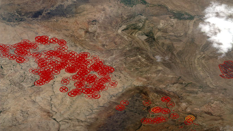 Satellite Picture Shows Hundreds of Houses Burnt Down - Photo SABC News