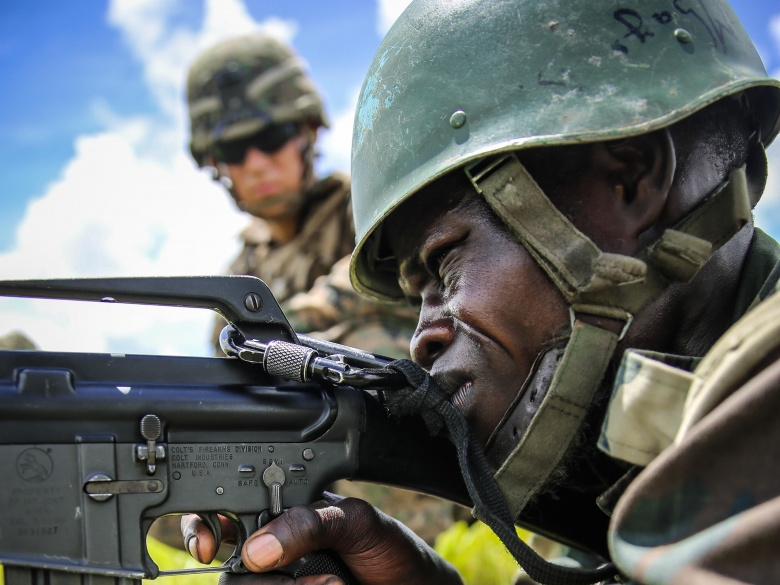 Senegalese Military Recruit in Training - Photo The National Interest