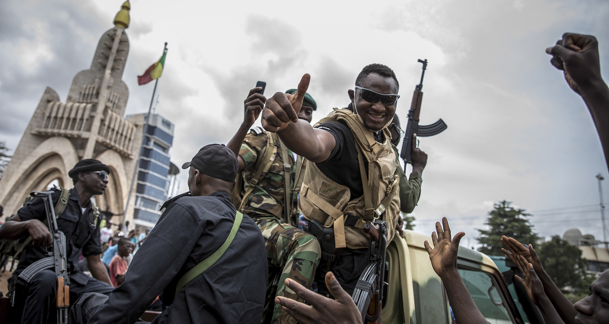 Soldiers after the Mali Coup - Photo EPA-EFE/H.DIAKITE