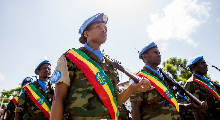 Some Ethiopian Troops in South Sudan - Photo UN News