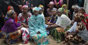 Some of the Chibok Girls who had Escaped by 5 May 2014 - Photo AFP