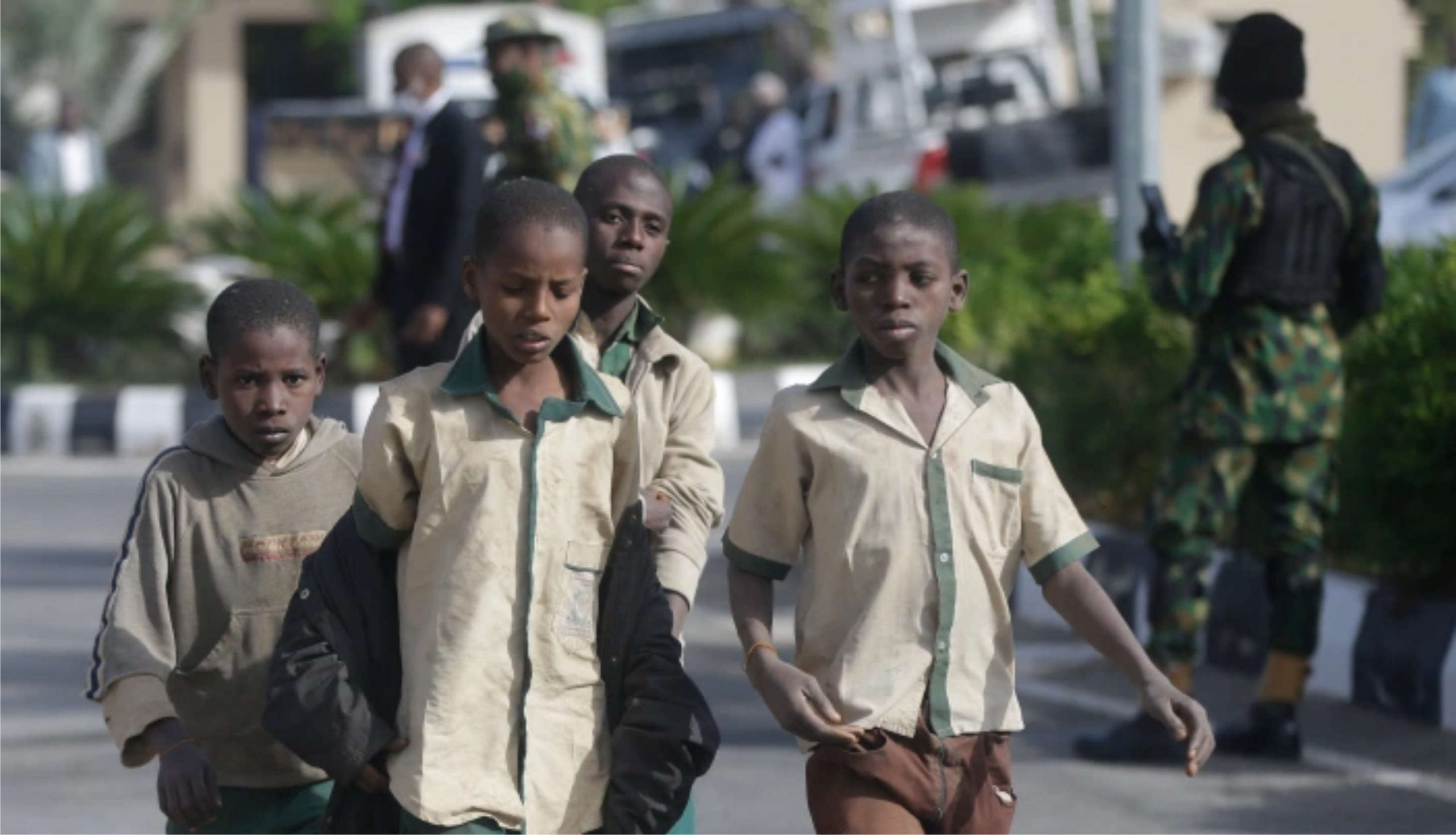 Some of the Over 300 Schoolboys Kidnapped and Released - Photo Enuko Nigeria