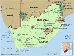South Africa and Neighbors - Source Britannica