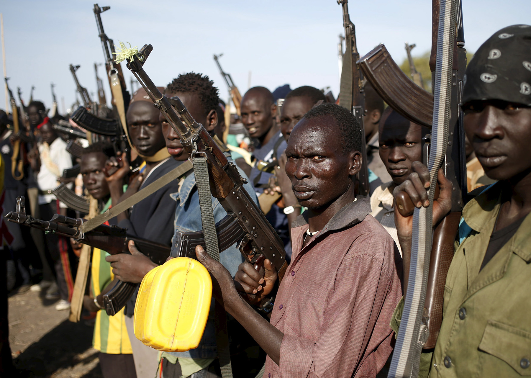 Jikany Nuer White Army fighters in Upper Nile - Reuters/Goran Tomasevic