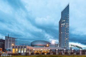 The Chinese-built African Union HQs in Addis Ababa - Photo CGTN