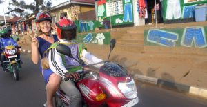 Tourist on Kigali Moto Taxi - Photo Living in Kigali