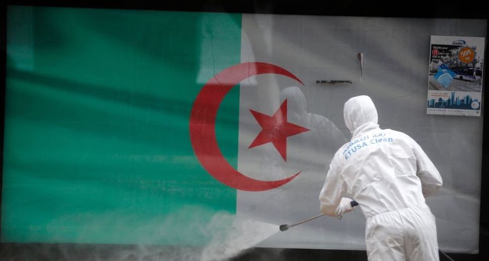 Algerian health worker disinfects - Photo Billal Bensalem, NurPhoto via Getty Images
