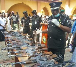 Weapons Surrendered by Gang Members - Photo Faces Intrenational Magazine