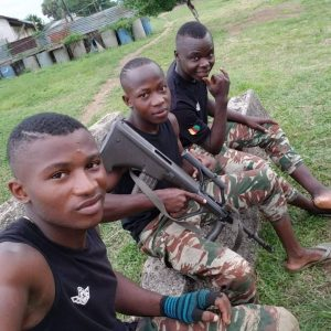 Biya's Boy Soldiers Await the Night Out