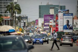 A Street in Accra, Ghana's Capital - Photo Bloomberg