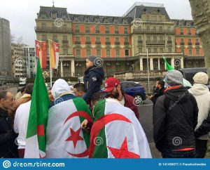 Algerians Protesting in Geneva - Photo Dreamstime.com