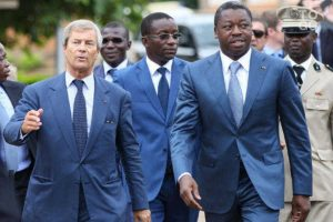 Bollore with Faure Gnassingbe - Photo AfricanQuarters