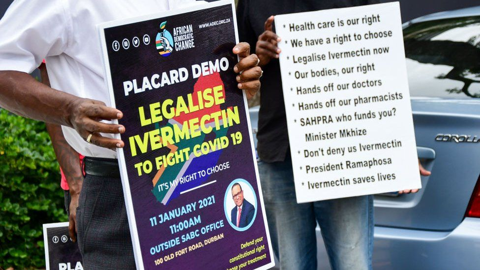 Campaigners for Emergency Use Authorization for Ivermectin - Photo BBC