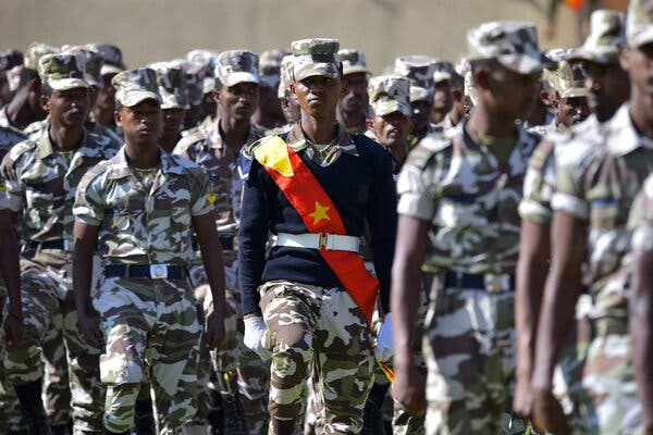 Eritrean Forces - Photo The New York Times